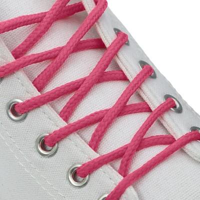 Шнурки для обуви, d = 5 мм, 120 см, пара, цвет розовый
