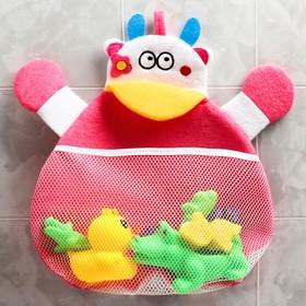 Сетка для хранения игрушек в ванной «Бурёнка» в наличии