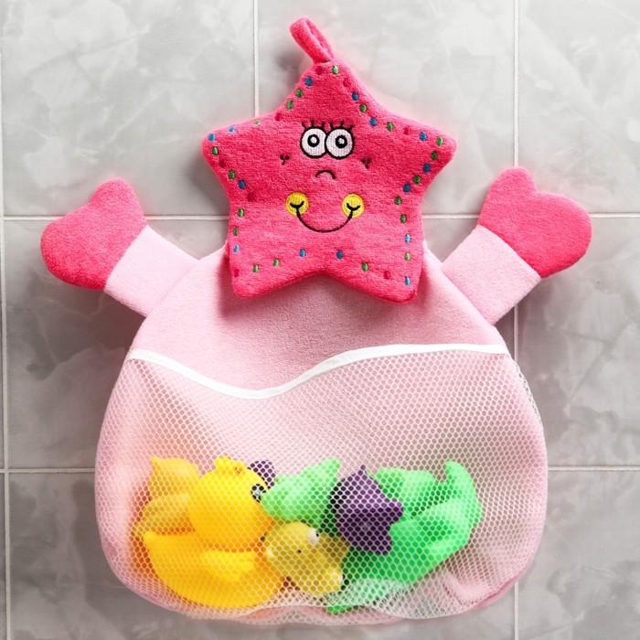 Сетка для хранения игрушек в ванной «Морская звезда»