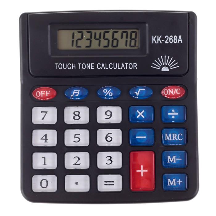 Калькулятор настольный 08-разрядный PS-268A с мелодией