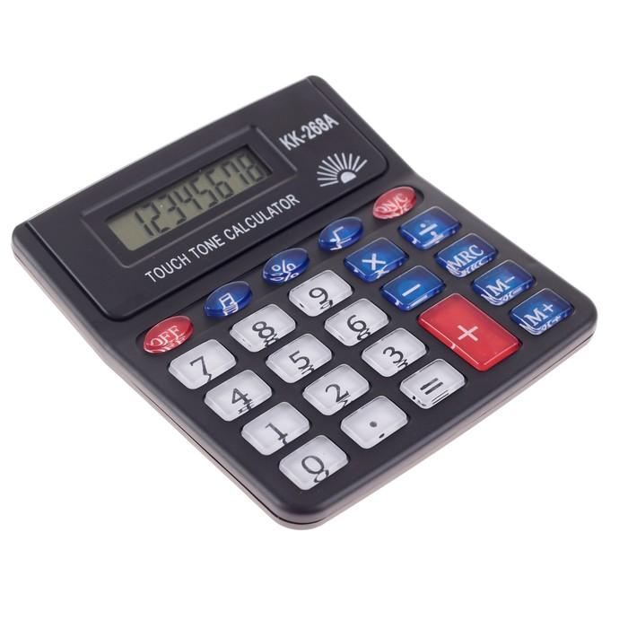 Калькулятор настольный, 8-разрядный, PS-268A, с мелодией - фото 404512772