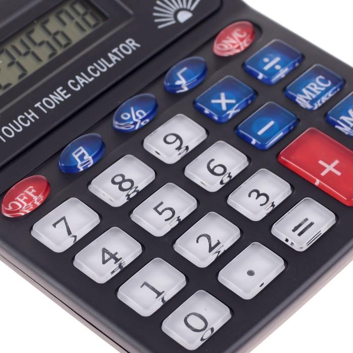 Калькулятор настольный, 8-разрядный, PS-268A, с мелодией - фото 404512773