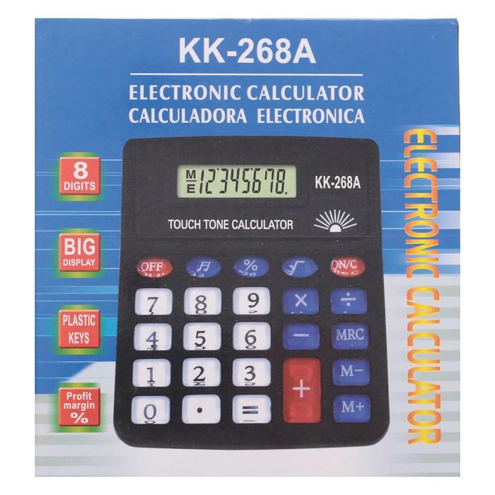 Калькулятор настольный, 8-разрядный, PS-268A, с мелодией - фото 404512776