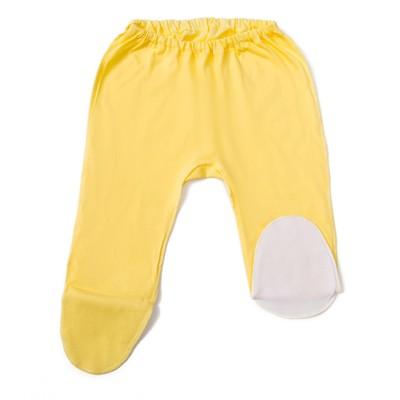 Ползунки  детские, рост 50 см, цвет жёлтый/белый E055002K50_М