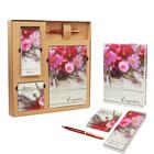 """Подарочный набор """"От всего сердца!"""": ежедневник, блокнот, футляр с бумажным блоком и ручка"""