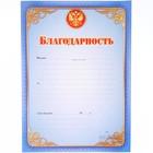 """Благодарность """"Универсальная"""" синяя рамка, герб РФ"""
