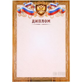 """Диплом """"Универсальный"""" золотая рамка, символика РФ"""