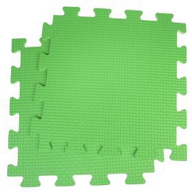 Детский коврик-пазл, 1 × 1 м, зелёный