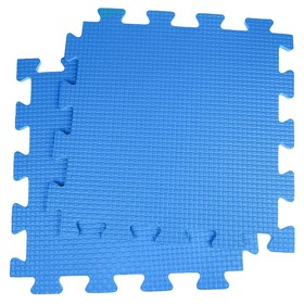 Детский коврик-пазл, 1 × 1 м, синий