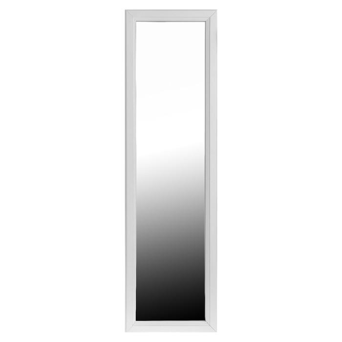 Зеркало настенное, 118х34 цвет белый