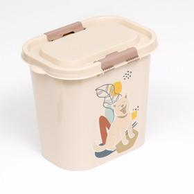 Контейнер Dogs для корма, овальный, 10 л, микс цветов