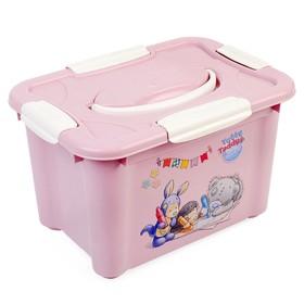 Контейнер универсальный с ручкой и аппликацией ME TO YOU, цвет розовый, 5,5 л