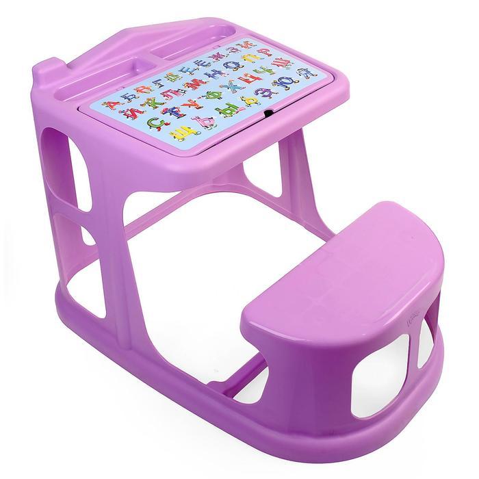 Стол-парта детская с аппликацией, цвет сиреневый, МИКС
