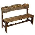 """Скамейка к набору """"Разбойник"""" фигурная, состарненная, натуральная сосна, 160см"""