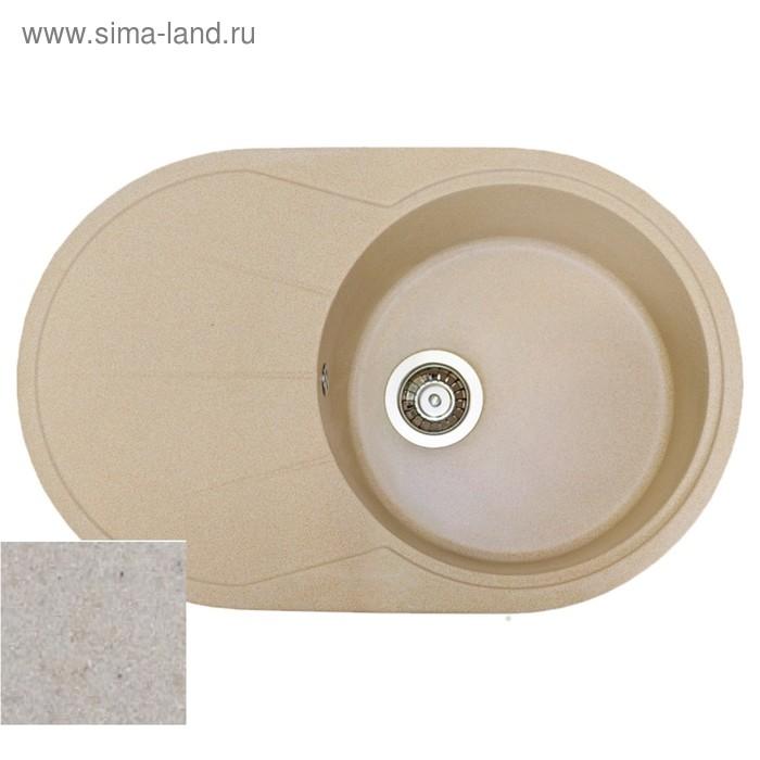 Мойка кухонная из кварца Fostogran FG 76-49, 760х490 мм, цвет песочный