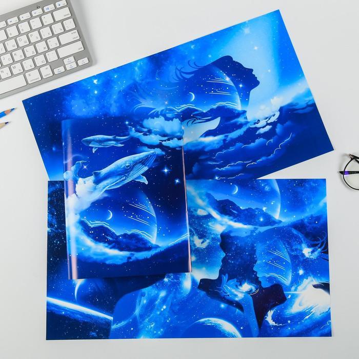Набор обложек для книг «Космос», 3 шт, 43×24 см
