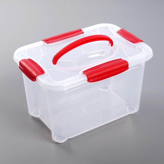 """Ящик для хранения с ручкой 5,5 л """"Кристалл"""""""