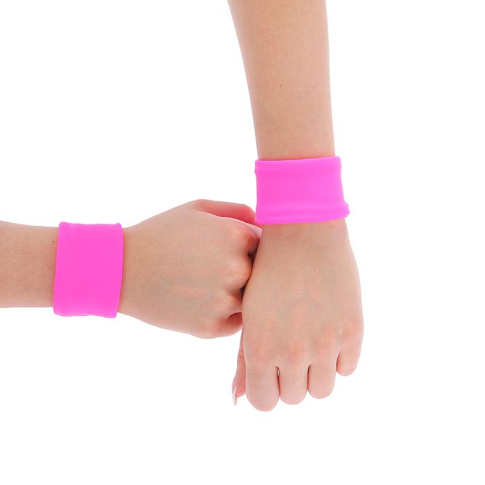 Напульсники бифлекс 8 см, пара, цвет розовый