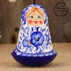 Неваляшка «Цветочки», синяя, 10 см