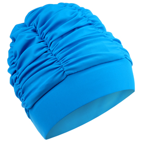 Шапочка для плавания объемная с подкладом, лайкра, цвет бирюзовый