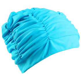 Swimming cap surround with a lining, spandex, color blue