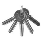 """Заготовка ключа """"ЗУБР"""" МАСТЕР, для цилиндровых механизмов, английский тип, 5 шт."""