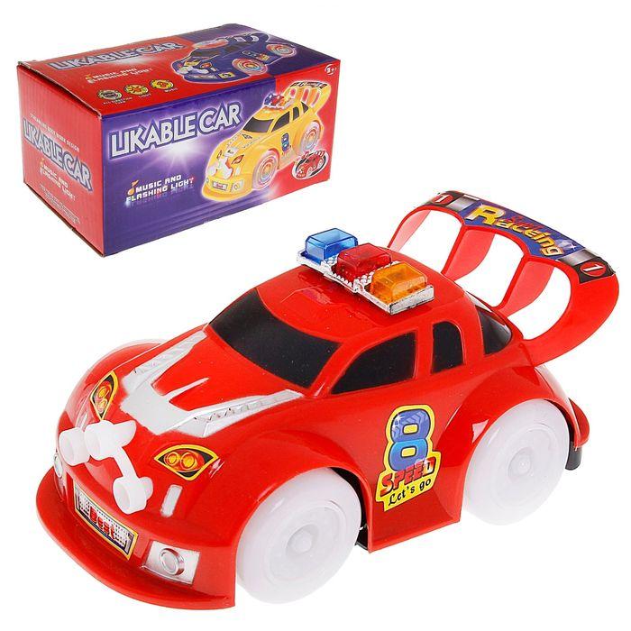 """Машина """"Полиция"""", работает от батареек, световые и звуковые эффекты, цвета МИКС"""