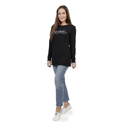 Туника женская LINE on/of, размер 44, цвет серый чёрный  ФТ1306