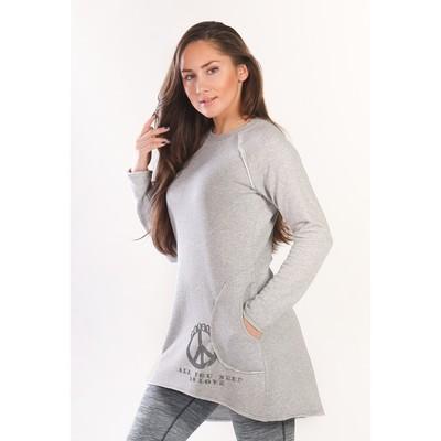 Туника женская PEACE, размер 44, цвет серый меланж  ФТ1307