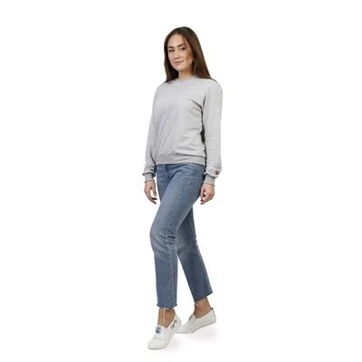 "Свитшот женский ""Топ"", размер 44, цвет серый меланж ФС1303"
