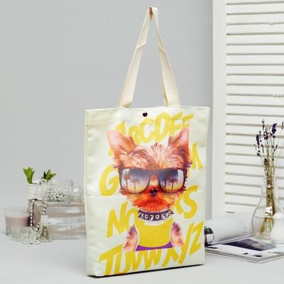Goodie, goodie bag, textile, 34*3*37, otd on the magnet, no padding, milk