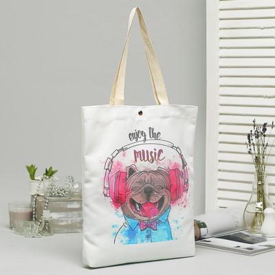 Bag, textile, Music, 34*3*37, otd on the magnet, no padding, white