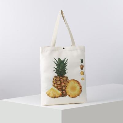 Bag, textile, Pineapple, 34*3*37, otd magnet, white