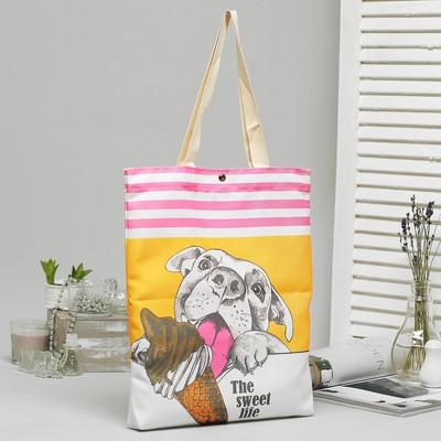 Bag, textile, Ice-cream, 34*3*37, otd on the magnet, no padding, white
