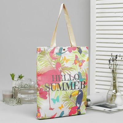 Bag, textile, Summer, 34*3*37, otd on the magnet, no padding, white
