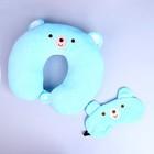 "Headrest ""Bear"" with eye mask, color blue"