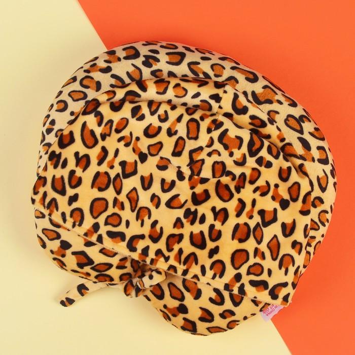 """Антистресс-подголовник """"Леопард"""" с капюшоном"""