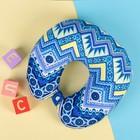 Антистресс-подголовник «Орнамент», цвет голубой