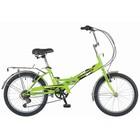 """Велосипед 20"""" Novatrack FS30, 2018, 6 ск., цвет салатовый"""