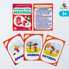 "Flashcards ""seasons and Months"", 16 PCs."