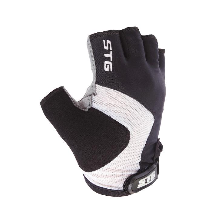 Перчатки велосипедные STG STG, AI-03-176, размер L, цвет черные/серые