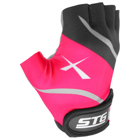 Cycling gloves, size M, color black and pink