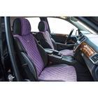 Накидка, на передние сиденья, BULLET, фиолетовый, велюр