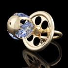 Сувенир «Соска», голубая, с кристаллами Сваровски, 3 см