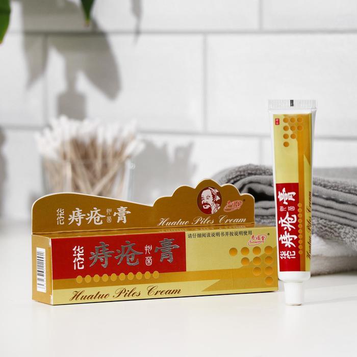 Фитокрем TaiYan Huatuo Piles Cream от геморроя с мускусом, 25 г.
