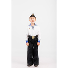 Костюм моряка: фланка, тельняшка, брюки, пилотка, ремень, рост 104 см