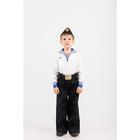Костюм моряка: фланка, тельняшка, брюки, пилотка, ремень, рост 110 см