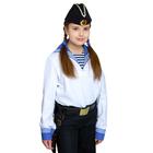 Костюм моряка: фланка, тельняшка, брюки, пилотка, ремень, рост 164 см