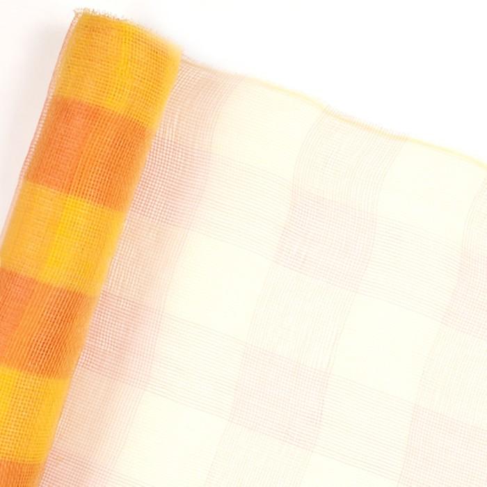 """Cетка для цветов """"Клетка"""", оранжево-жёлтая, 53 см x 7 м - фото 8442388"""