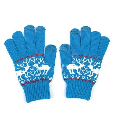 """Перчатки для сенсорных экранов Human Friends, Mobile Comfort """"Fiver"""", синие"""